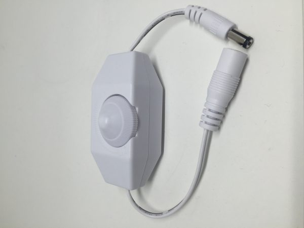 Agilux In-Line Dimmer 24v DC Power Cord Use with dimmable LED modules -6in White