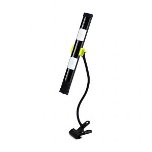 Agilux 1800 Lumen Portable LED Work Light 18in Gooseneck and Clamp – 18in Black